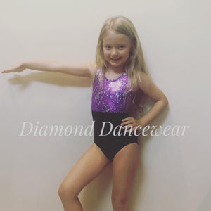 Two Tone Dance Leotard - Multiple Sizes Available