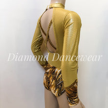 Load image into Gallery viewer, Gold Long Sleeve Leotard - Girls 10 In Stock