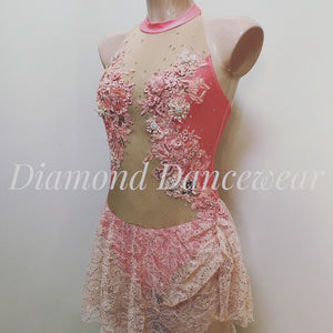 Adult Size 8 - Peach and Apricot Lyrical Costume - In Stock