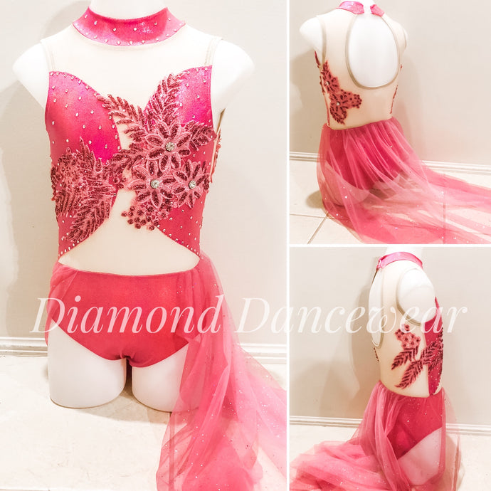 Girls Size 8 - Pretty Pink Lyrical Dance Costume - In Stock