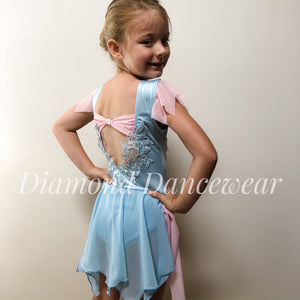 Girls Size 8 - Pastel Pink & Blue Lyrical Costume - In Stock