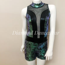 Load image into Gallery viewer, Girls Size 12 - Foil Velvet Dance Costume - In Stock