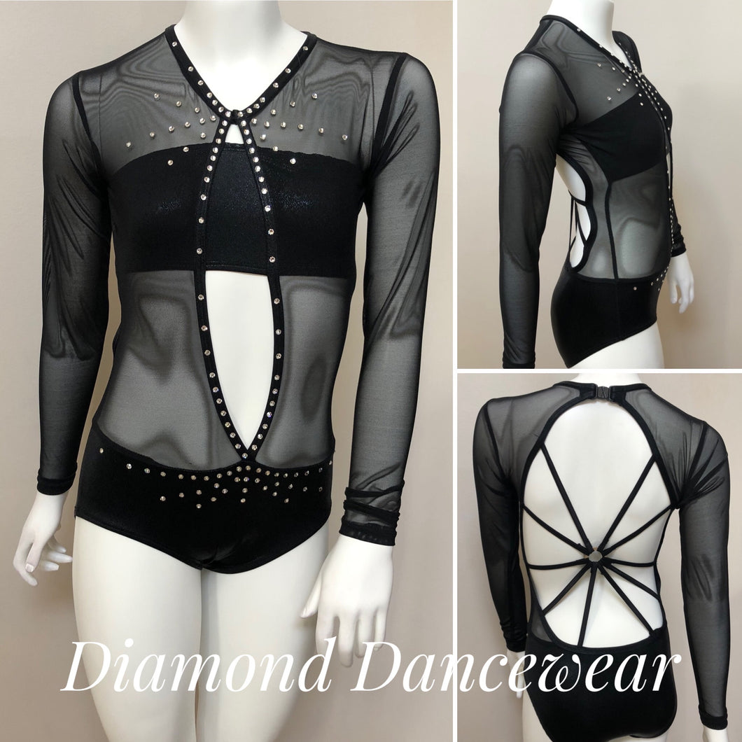 Girls 10 - Black Dance Costume - In Stock