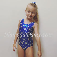 Load image into Gallery viewer, Blue and Silver Star Leotard with Scrunchie and Tutu Skirt - Multiple Sizes In Stock