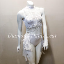 Load image into Gallery viewer, Girls 10 - White Lyrical Dance Costume - In Stock
