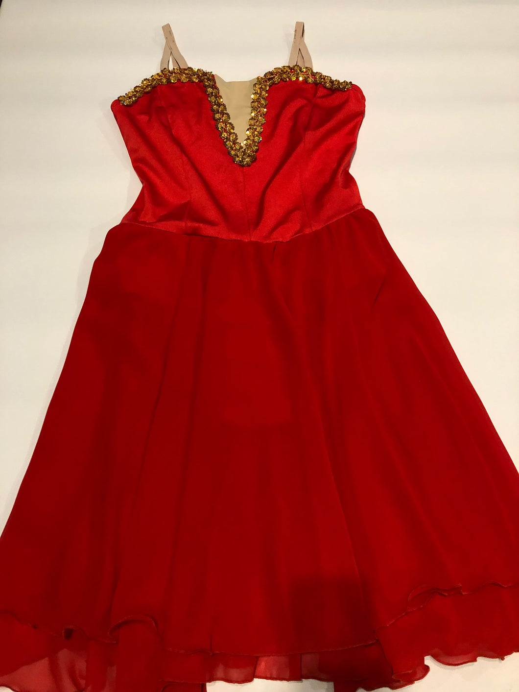 Adults 12 - Red Lyrical Dress - In Stock
