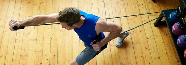 Resistance band workout routine