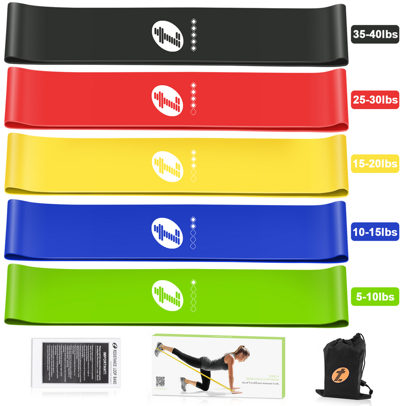 TOPLUS Resistance Bands Set of 5 – Toplus