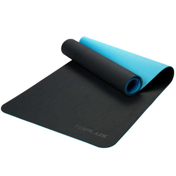 TOPLUS Non-slip Yoga Mat, Two-Color Yoga Mat-Polka Dot Pattern