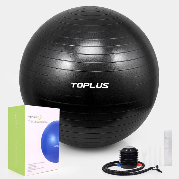 TOPLUS Extra Thick ,Anti-Burst, Durable Yoga Ball – 65CM/75CM