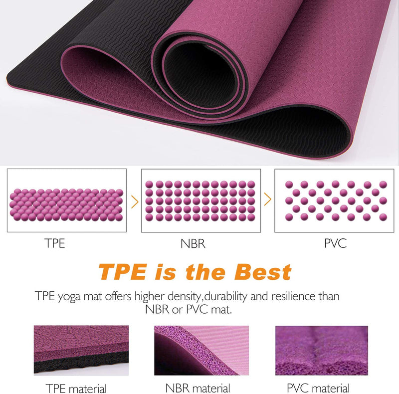 TOPLUS Yoga Mat - Classic 1/4 inch Pro Yoga Mat Eco Friendly