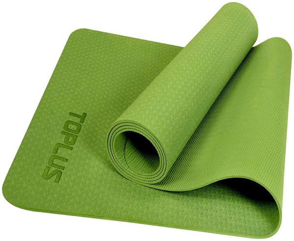 TOPLUS Fitness & Exercise Classic 4mm Yoga Mat—— Grass Pattern