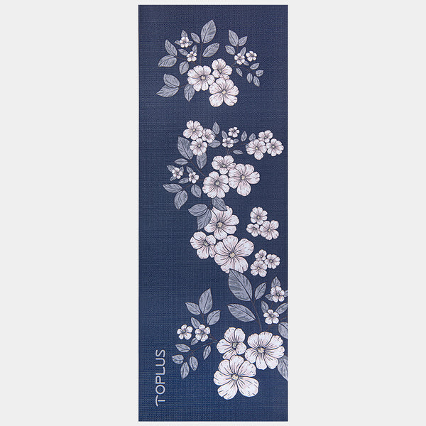 yoga mat with flower beatuful mat