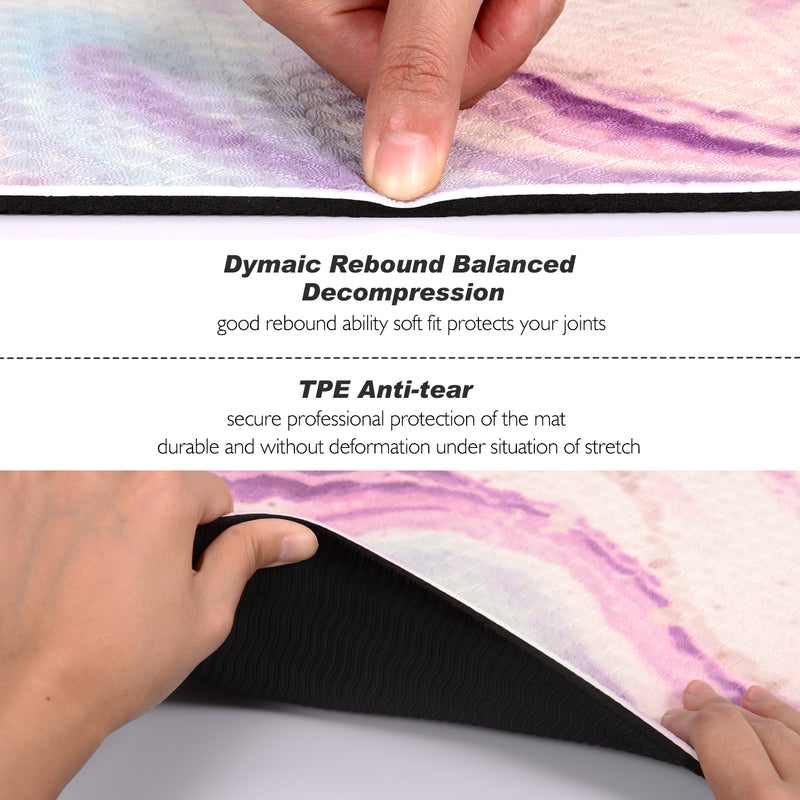 Toplus yoga mat comes with an excellent slip resistant advantage