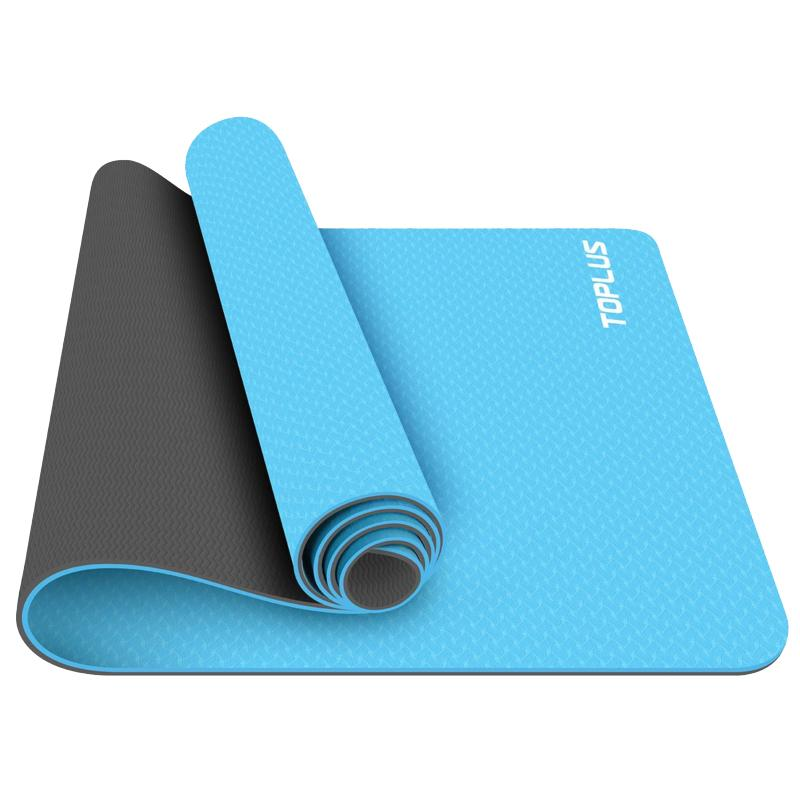 Toplus Yoga Mat for Beginner Blue