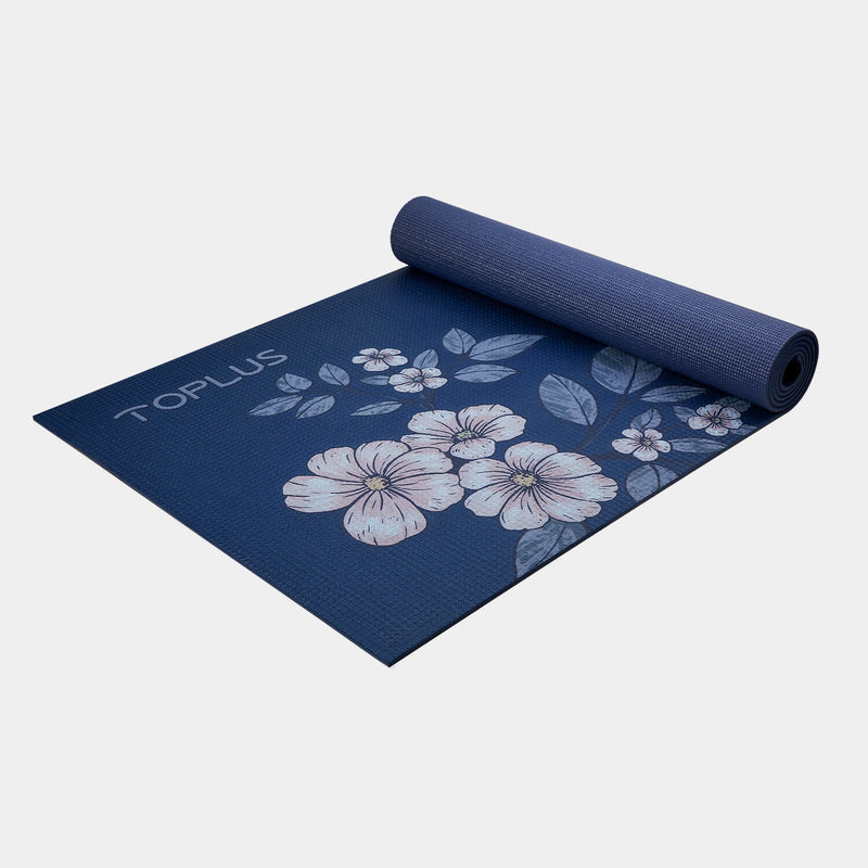 yoga mat with flower