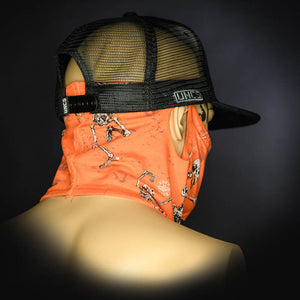 Neck Gaiter - Skeleton/Orange