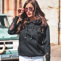 womens hoodie with net