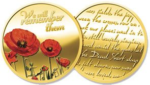 Medallion – Gold Plated Poppy Medallion In Gift Box