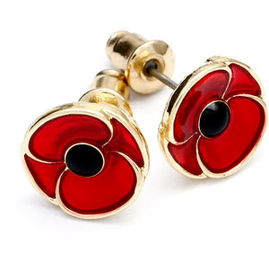 Remembrance Poppy Earrings