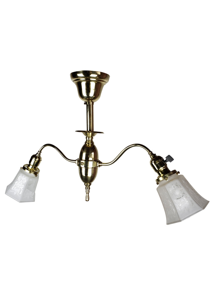 Victorian 2 Lights Ceiling Fixture by Wakefield