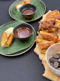 Recipe: Banana Turon A La Mode with Chocolate Dipping Sauce
