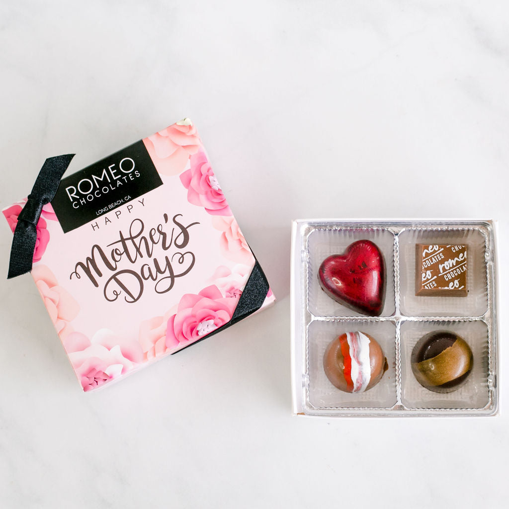4 Pc Mother's Day Truffle Gift Box - PICK-UP ONLY AT 460 PINE AVE SHOP: May 8 - May 12