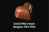 Solid Milk Heart Belgian 33% Milk
