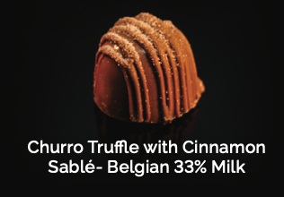 Churro Truffle with Cinnamon Sablé- Belgian 33% Milk