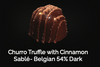 Churro Truffle with Cinnamon Sablé- Belgian 54% Dark