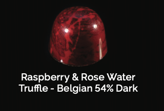 Raspberry & Rose Water Truffle - Belgian 54% Dark