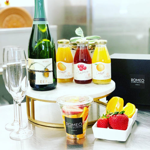Craft Your Own Mimosa Kit with Juice & Fresh Fruit