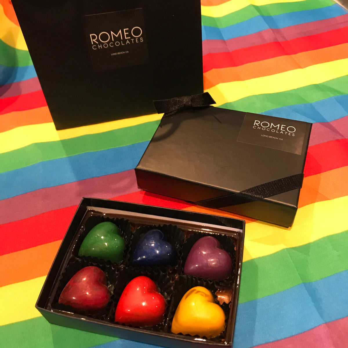 PRIDE 6 pc Rainbow Truffle Gift Box