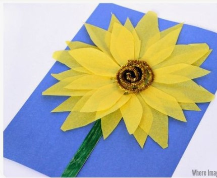 Paper Sunflower Arts and Crafts Activity