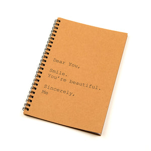HER GIFT 101 - KRAFT BLANK NOTEPAD - Quirky Quotes