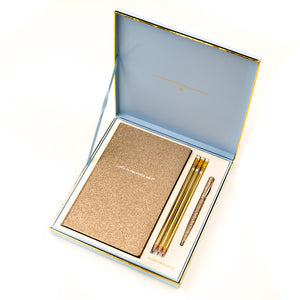 HERGIFT 101 Alice Pleasance Gold Notebook Set
