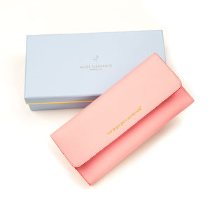 "HERGIFT 101 Saffiano Leather Travel Wallet -""How do you get to Wonderland!"""