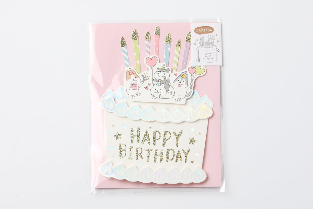 [DMV Only] Happy Cats Standing Display Card 01004394