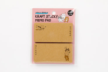 [DMV ONLY] Kraft stick memo pad - Cat graphic 04009691