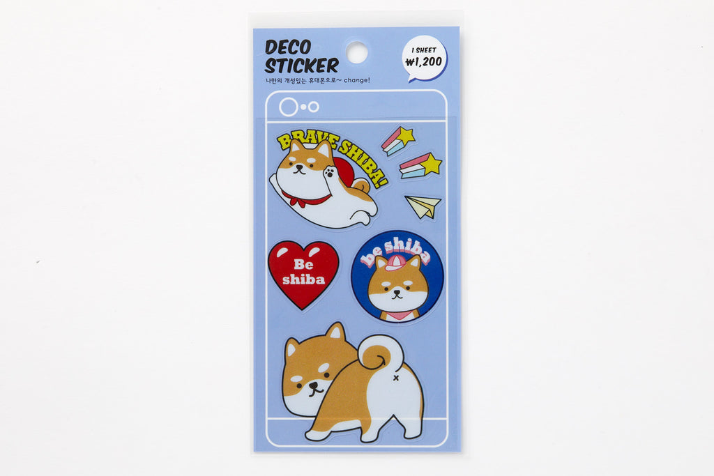 [DMV ONLY] Multi deco sticker set -  Brave Shiba dog 04009723