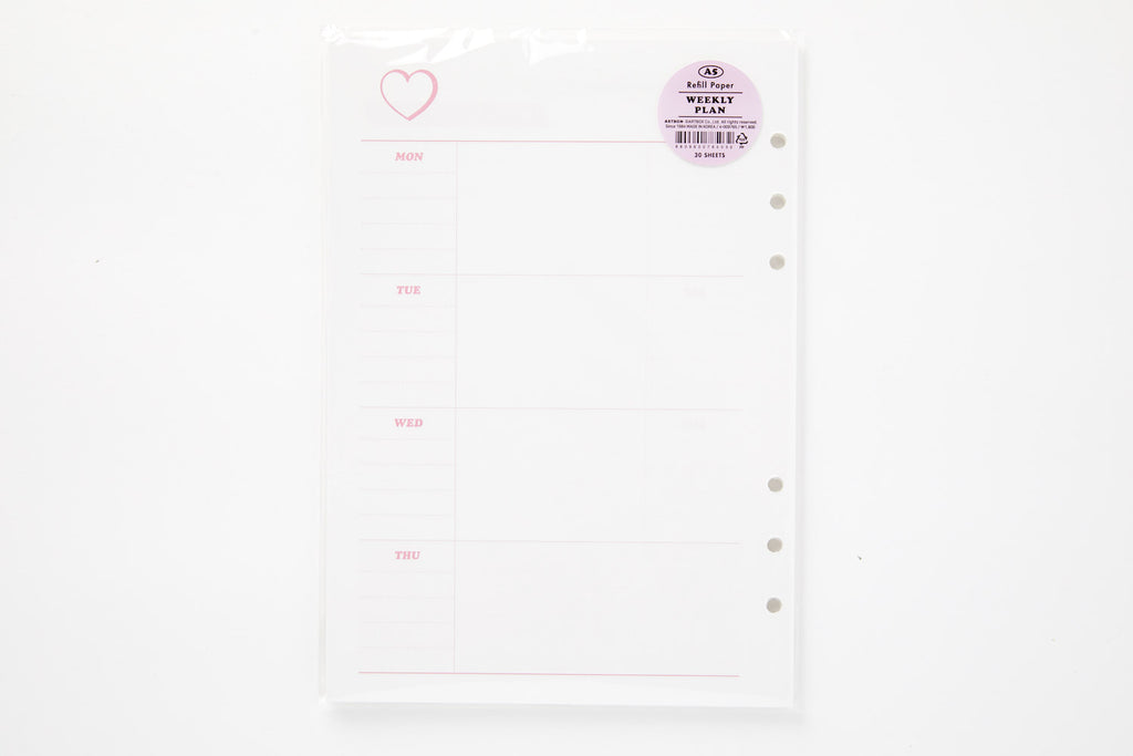 [DMV Only] A5 DIY Weekly Planner Paper Refill 04009765