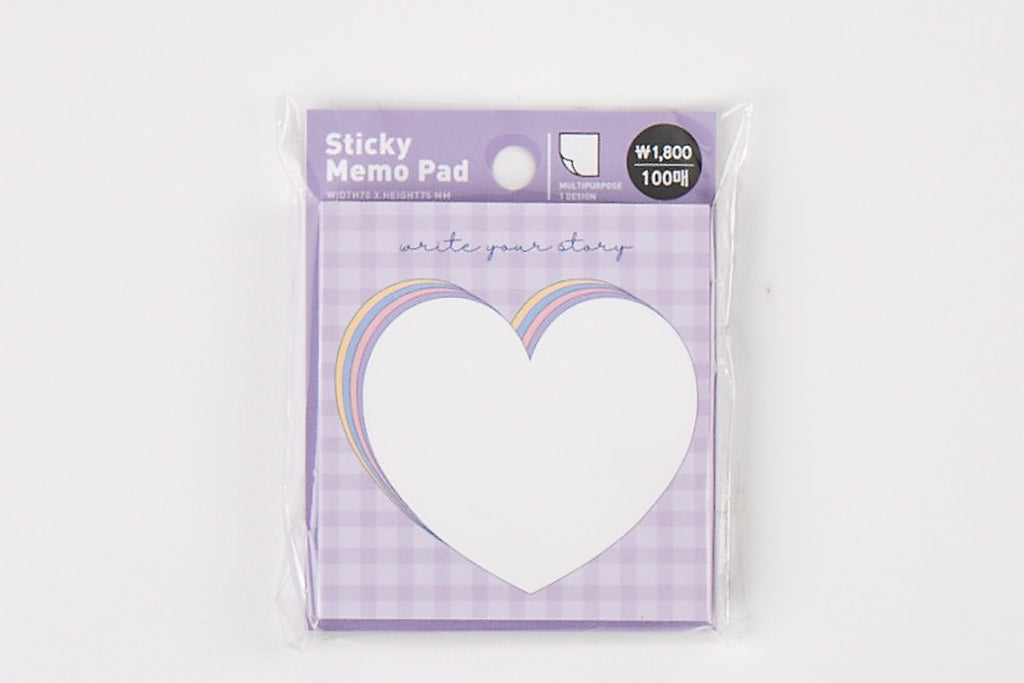 [DMV Only] Purple Heart Sticky Memo Pad 04010056