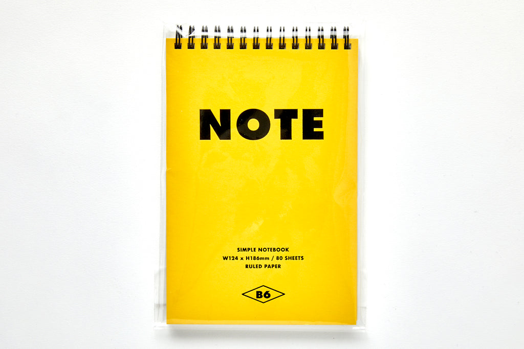 [DMV ONLY] Simple B6 Top Bound Spiral Notebook 04010157