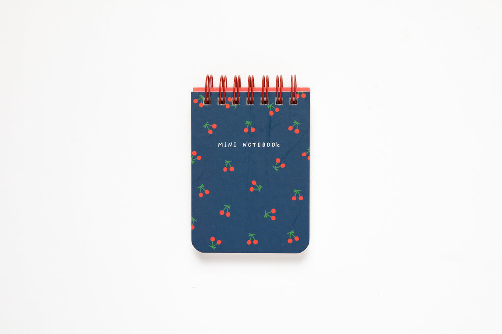 [DMV ONLY] Artbox Navy Cherry Mini Spiral Notebook 04010160