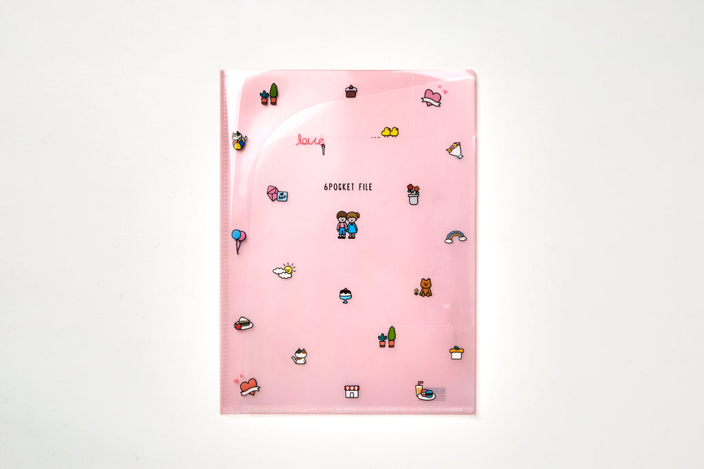 [DMV ONLY] Girl & Boy 6 Pocket File Folder 05001315