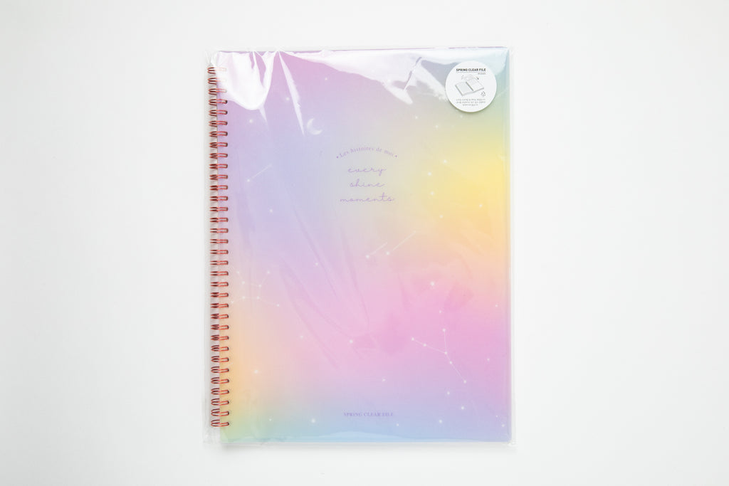 [DMV ONLY] Gradation Spiral Notebook Style Clear File Folder 05001386