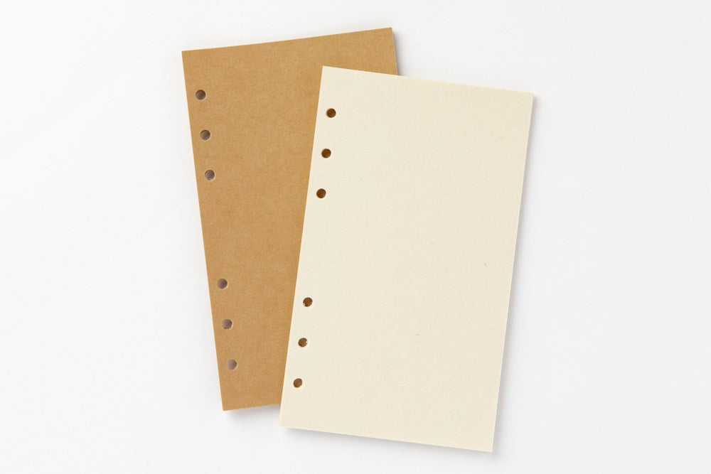 [DMV only]A6 Brown and Ivory Kraft Note Refill Paper 04010221