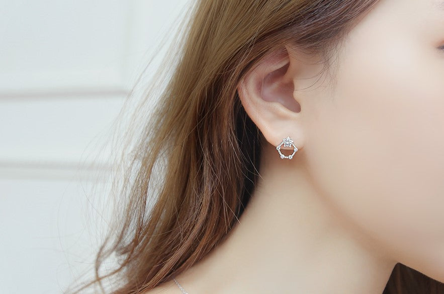Soo & Soo Penta Cubic Earrings