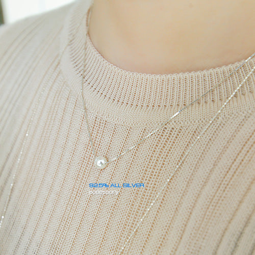 Soo & Soo Elegant Pearl Pendant Chain Necklace
