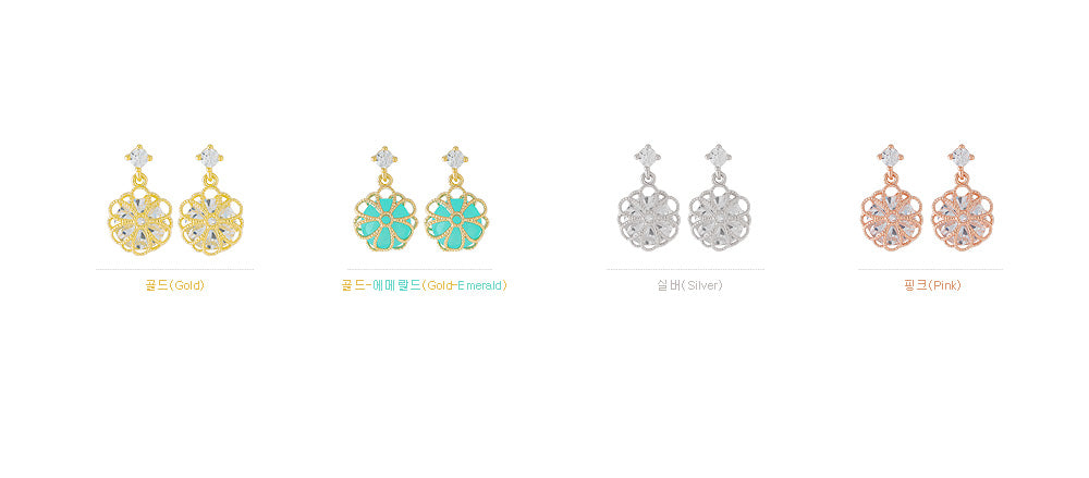 Soo & Soo Spring Rain Clip-On Earrings